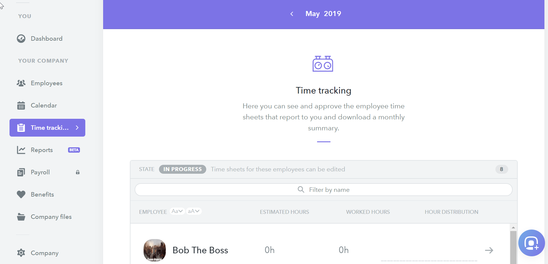 hr software time tracking